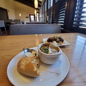 Calgary restaurant Frank's split pea soup ham bread meatballs