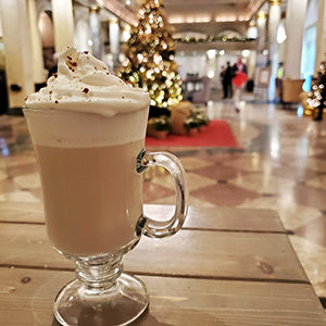 Hawthorn Bar's White Christmas cocktail Savour Calgary Christmas Cocktail Roundup