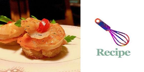 Confit Leek & Shrimp Canapé