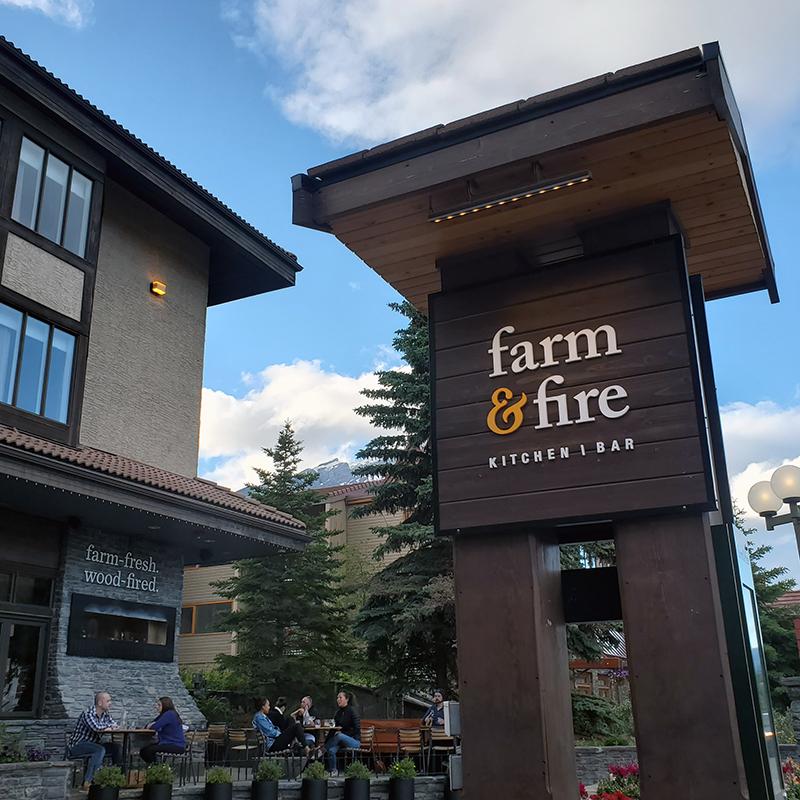 Farm and Fire restaurant Banff