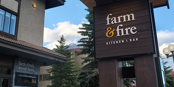 Farm and Fire restaurant Banff