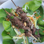 Lemongrass Satay Beef with Rice Noodles