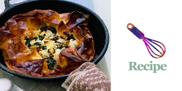 roasted squash and greens pie