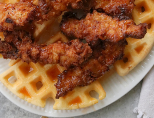 Fried Chicken & Waffles with Hot Honey Butter